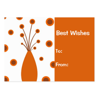 Retro vase Best Wishes : Card Pack Of Chubby Business Cards