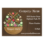 Retro Vegetable Bowl Business Card