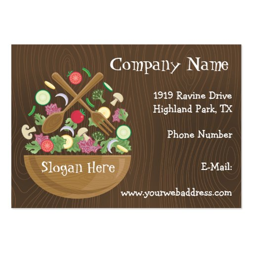 Retro Vegetable Bowl Business Card