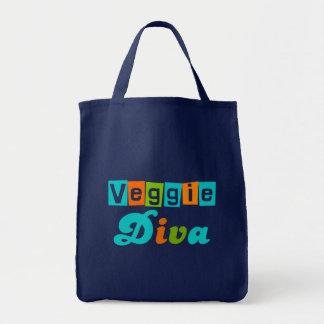 Retro Veggie Diva Tote Bags