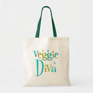 Retro Veggie Diva Canvas Bags