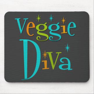Retro Veggie Diva Mouse Pad
