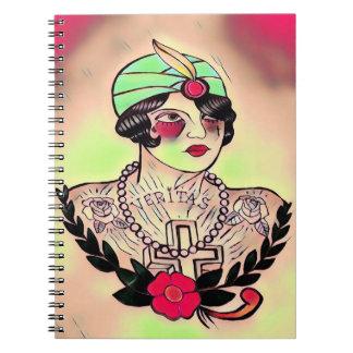 retro veritas note pad note book