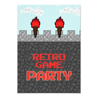 Retro Video Game Party Invitation