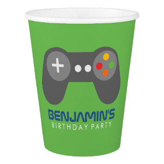 Retro Video Games Paper Cup