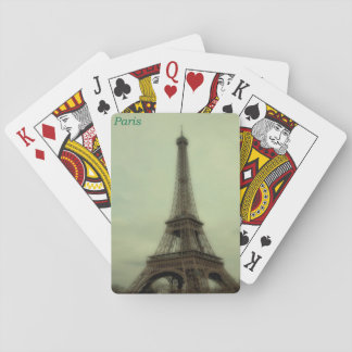 retro view of the Eiffel Tower in Paris, France Playing Cards