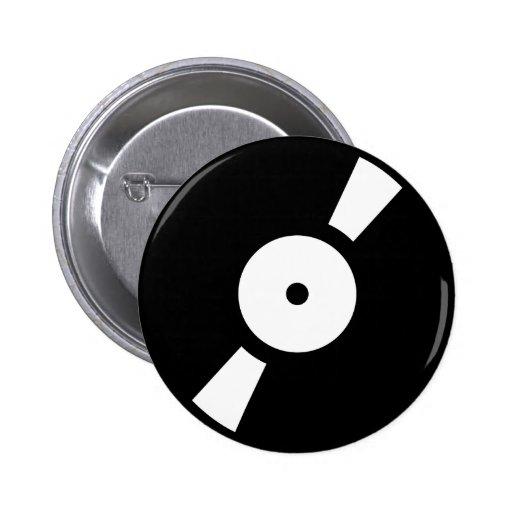 retro vinly record pin