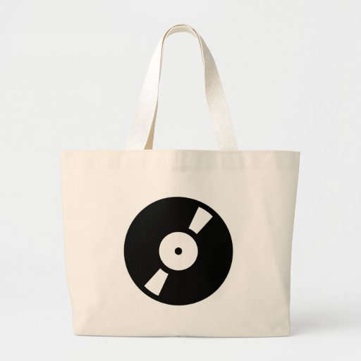 retro vinly record jumbo tote bag