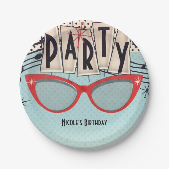 Retro Vintage 1950's Fifties Birthday Party Custom Paper