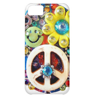 Retro Vintage Abstract Peace Smile Face iPhone 5C Case