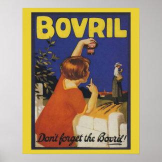 Retro vintage advertising, Bovril Poster