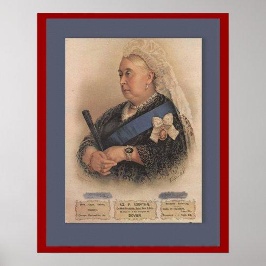 Retro vintage advertising, Queen Victoria Poster