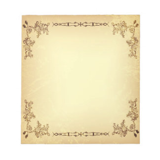Retro Vintage Aged Paper Notepad