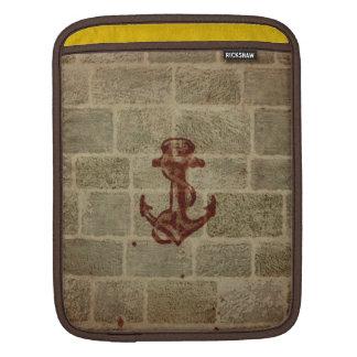 Retro Vintage Anchor Pattern iPad Sleeve