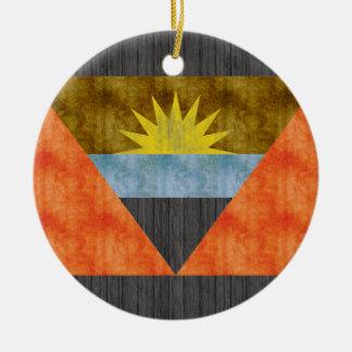 Retro Vintage Antigua and Barbuda Flag Christmas Ornament