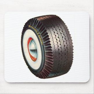 Retro Vintage Auto Car Big Whitewall Tire Mouse Mat
