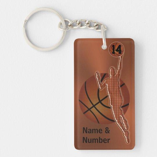 Retro Vintage Basketball Keychains Personalised