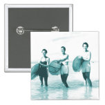 Retro Vintage Bathing Beauties Surfing Pinback Buttons