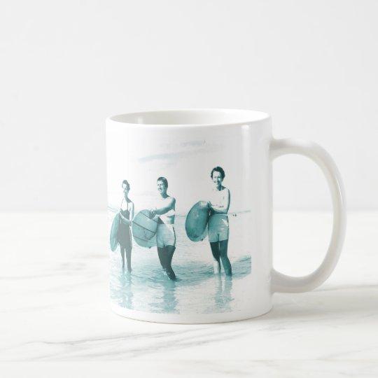 Retro Vintage Bathing Beauties Surfing Coffee Mug