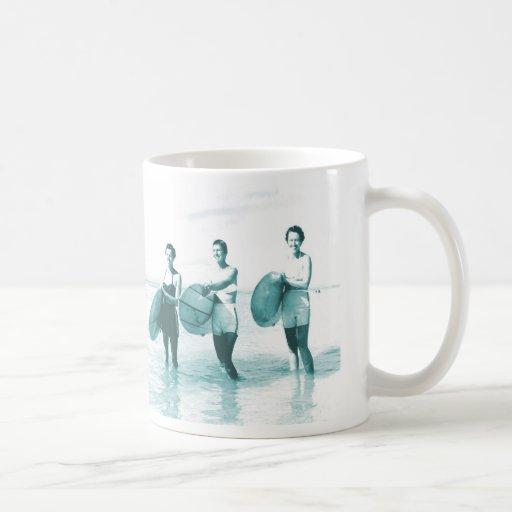 Retro Vintage Bathing Beauties Surfing Classic White Coffee Mug