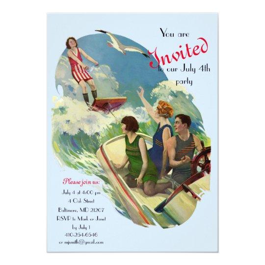 Retro Vintage Bathing Suit ad Card