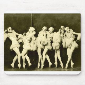 Retro Vintage Beautiful Dancing Women Ballet Dance Mouse Pads