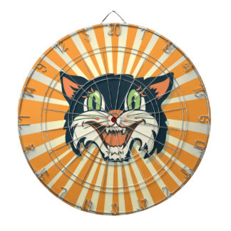 Retro Vintage black Cat dart board