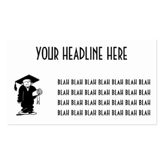 Retro Vintage Black & White Funny Graduation Boy Pack Of Standard Business Cards