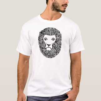 Retro Vintage Black & White Lion Head Portrait T-Shirt