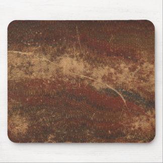 Retro vintage book cover texture, rough & worn mouse pad