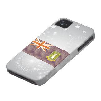 Retro Vintage British Virgin Islands Flag iPhone 4 Case-Mate Case