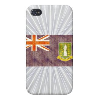Retro Vintage British Virgin Islands Flag iPhone 4/4S Cases