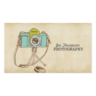 Retro Vintage Camera Photographer Business Cards