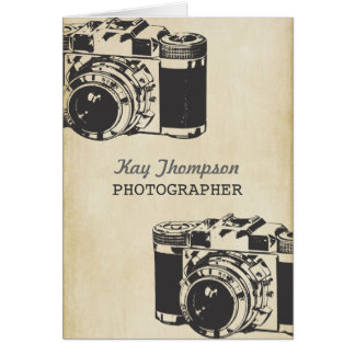 Retro Vintage Camera Photographer Thank You Card