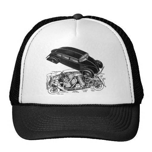 Retro Vintage Car 30's Rear-Engine Futuristic Auto Hat