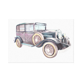 Retro vintage car. canvas print