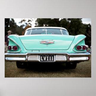 Retro vintage car poster