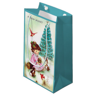 Retro Vintage Christmas Angel party bag