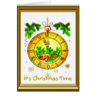 Retro Vintage Christmas, It's Christmas time Card