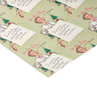 Retro Vintage Christmas lady boss party tissue Tissue Paper