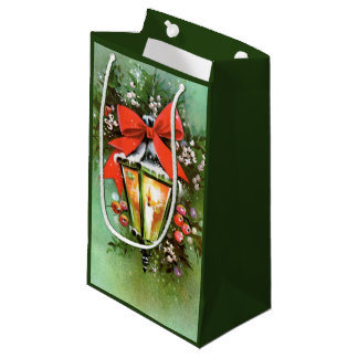 Retro Vintage Christmas lap Holiday party bag