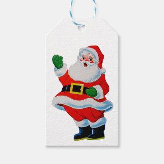 Retro Vintage Christmas Santa Claus Gift Tags