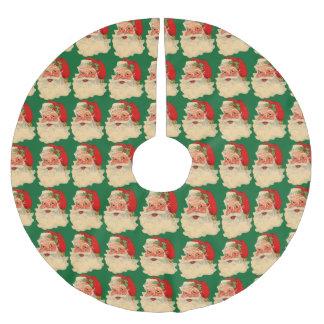 Retro Vintage Christmas Santa Claus Tree Skirt