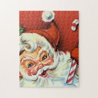 Retro Vintage Christmas Santa Festive puzzle