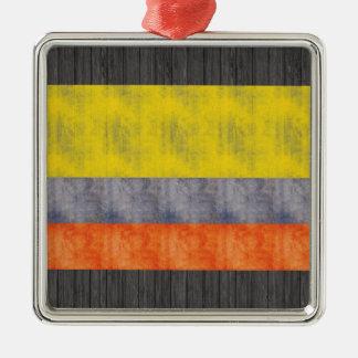 Retro Vintage Colombia Flag Ornaments