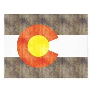 Retro Vintage Colorado Flag Personalized Flyer