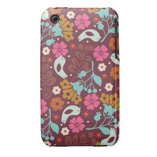 Retro Vintage Colorful Flowers Case iPhone 3 Case-Mate Cases