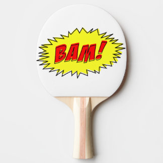 Retro Vintage Comic Bam Ping Pong Paddle
