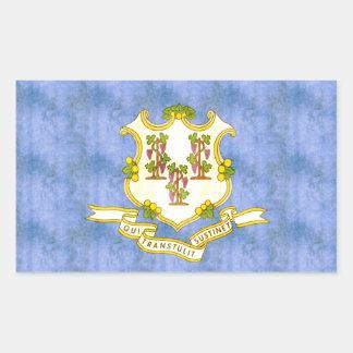 Retro Vintage Connecticut Flag Stickers