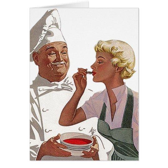 Retro Vintage Cook Off Chef Taste Blank Note